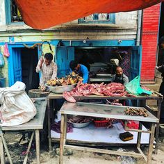 And this is why I do not eat meat in Nepal...At least this place is halal. #kathmandu #nepal #vegetarian #bigfatworldnepal