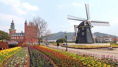 Huis Ten Bosch - theme park replicating a Dutch town, located near Sasebo, Japan.