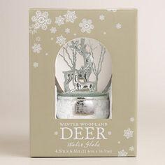 Glass Deer Snow Globe on Sliver Base | World Market