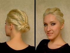 Easy twisted updo    I wish my hair would allow this haha.