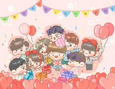 "195 lượt thích, 1 bình luận - Exo Fanart Page (@exo__fanart) trên Instagram: ""HAPPY BIRTH DAY BAEKHYUN❤ #baekhyunday #baekhyunexo #baekhyun #happybirthday #happybaekhyunday…"""