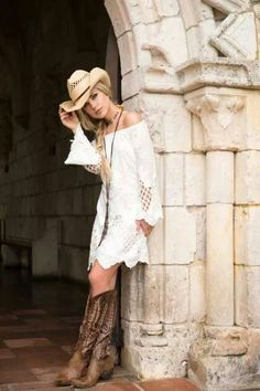 Union of Angels Cynthia Dress - Megan's Lifestyle Boutique Vestidos Country, Country Girls Outfits, Western Outfits, Western Wear, Western Chic, Cowgirl Outfits For Women Dresses, Cow Girl Outfits, Cowgirl Dresses With Boots, Cowgirl Dress Up