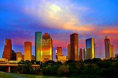 Houston Skyline Dusk