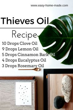 Great recipes to make house sprays and sanitizers with Thieves Essential Oils.