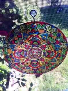 Nieten Mandala Suncatcher  psychedelische von EyePopArt auf Etsy, $12.00