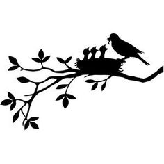 Designs Discover Silhouette Design Store mother bird with nest of birds Silhouette Design, Vogel Silhouette, Bird Silhouette Art, Bird Stencil, Stencil Art, Stencils, Wall Painting Decor, Bird Design, Design Design