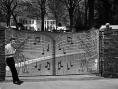 Graceland gates. As a little girl I always hoped I'd get a glimpse of Elvis as we drove by.