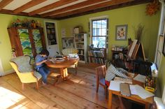 Library/Studio. Read, Write & Create. Love that this is central in the home!