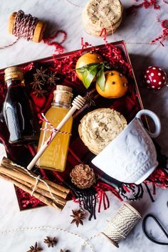 Coziest Homemade Hot Toddy Kit for the holidays Cute Christmas Gifts, Christmas Gift Baskets, Homemade Christmas, Christmas Cookies, Christmas Christmas, Holiday Gifts, Xmas, Tea Gifts, Food Gifts