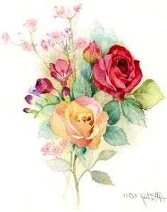 25 Beautiful Rose Drawings and Paintings for your inspiration | Read full article: http://webneel.com/rose-drawings-paintings | more http://webneel.com/drawings | Follow us www.pinterest.com/webneel