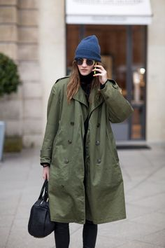 She could be robbing a bank... Paris Street Style Fall 2013 - Paris Fashion Week Style Fall 2013 - Harper's BAZAAR