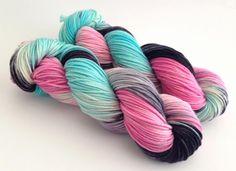 Hand Dyed Yarn  Rochelle  Superwash Merino DK  by aVividYarnStudio