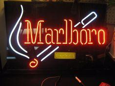 "Rare Phillip Morris Marlboro Cigarette Neon Advertising Sign - Large 28"" X 20.5""   Collectibles, Tobacciana, Signs   eBay!"