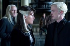 Draco and Narcissa face each other