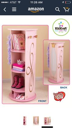 KidKrafts Princess Dress Up Unit Is What Every Little Girl Needs To Play Gold Details And Crown Hooks Give The Those Special