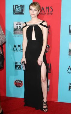 Emma Roberts at the fourth season premiere of her hit show American Horror Story Freak Show held at TCL Chinese Theatre on Sunday (October 5) in Hollywood.