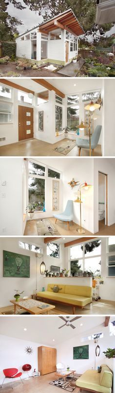 A beautiful backyard studio, designed and built by Seattle-based company, First Lamp