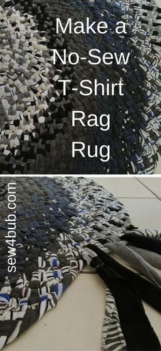 22 Ideas Diy Clothes No Sewing Upcycling Rag Rugs Old Clothes, Sewing Clothes, Teens Clothes, Tapetes Diy, Rag Rug Diy, Diy Rugs, Crochet Rag Rugs, Knitted Rug, Band T Shirts