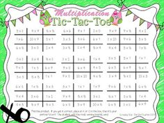 Tic-Tac-Toe Multiplication Fun In my classroom each year it seems more and more students are using their fingers to determine their multiplication facts. I understand that Common Core wants students to understand the process and utilize strategies to find the product of multiplication facts but I strongly believe students still need to memorize them and be fluent in them. Especially since multiplication is the foundation to many math concepts! To help my students with practicing their mul... Teaching Multiplication Facts, Math Facts, Teaching Math, Multiplication Strategies, Math Fractions, Creative Teaching, Teaching Ideas, Math Fact Practice, Math Help