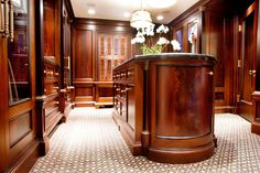 The wood is a great look for that Luxury Men's closet.