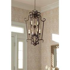 "Mont Chambord 17"" Wide Iron Foyer Pendant Light - #V8410   Lamps Plus"
