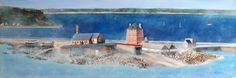 Port de Camaret-sur-Mer dans la brume - peinture à l'huile - réalisé au Lézard Créatif de Royan