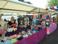 Markt in Hilversum, Noord-Holland