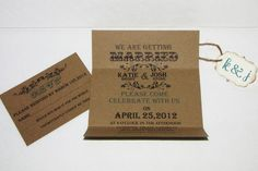 Handmade Kraft Wedding Invitation Suite