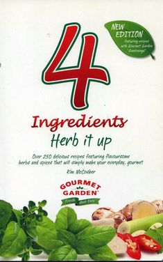 Four 4 Ingredients Herb It Up used paperback cookbook very good used condition Gourmet Garden, Four 4, Cook Books, Garden S, 4 Ingredients, Make It Simple, Spices, Conditioner, Mint