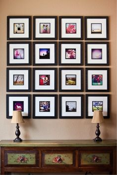 Hang your own instagram pictures. Beauty is in the eye of the beholder, right? Besides, I am sure your instagram really is a work of art.