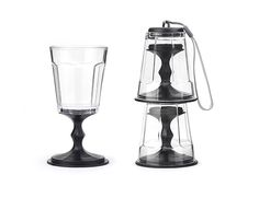 Kikkerland Design Inc » Products » Stacking Wine Glass Set Of 2