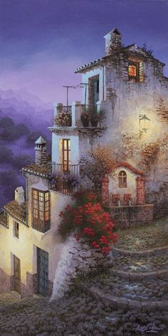 Spray Painter, Paintings, Award Winning, Spanish Artist, Spanish Painter, Illustrator, Landscape, colorful painting, Luis Romero Art Boards, Paintings I Love, Beautiful Paintings, Beautiful Landscapes, Malaga Spagna, Spanish Painters, Spanish Artists, Spray Painting, Painting & Drawing