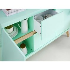 Meer dan 1000 idee n over groen dressoir op pinterest ladekasten muntgroen dressoir en - Verf credenza ...
