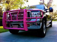 My truck...pink. Truck. F250.
