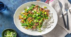 Fluffy grains of basmati rice get tossed with sticky-sweet sesame beef for a meal the whole family will love. Stir Fry Recipes, Chef Recipes, Asian Recipes, Dinner Recipes, Sesame Beef, Hello Fresh Recipes, Beef Stir Fry, Sweet Chili