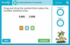 Comparing Decimals to the Thousandths is just one of the many new lessons on iknowit.com! Try them out for free and let us know what you think!