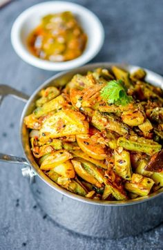 A low-oil, vegetarian Indian bitter-melon (karela) and potato (aloo) stir-fry with surprise flavor-enhancer from your own pantry i.e. Indian mango masala pickle. Perfect for a healthy side dish or...