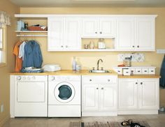 White laundry room cabinets white laundry room cabinets small images of green laundry room cabinets images Laundry Room Pictures, Room Renovation, Wall Shelves, Ikea Home, Home, Washing Machine In Kitchen, Room Design, Cabinet, White Laundry Rooms