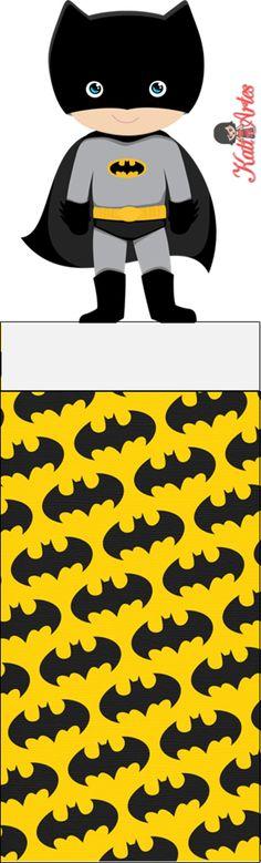 Batman Free Printable Original Nuggets Wrappers.