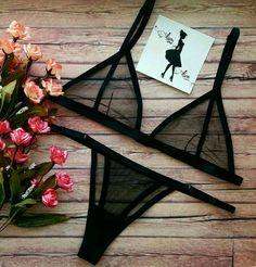 50 Ideas Swimwear Black Bikini Fashion Source by black Lingerie Babydoll, Jolie Lingerie, Lingerie Outfits, Pretty Lingerie, Luxury Lingerie, Beautiful Lingerie, Lingerie Sleepwear, Sexy Lingerie, Delicate Lingerie