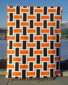 Rah, Rah quilt.....Go Broncos! justsewreal.blogspot.com