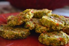 Veggie and Cheese Patties | clean eating for toddler