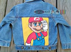 SAMPLE SALE SIZE 4 Mario brothers jacket Boutique by Babalubakidz