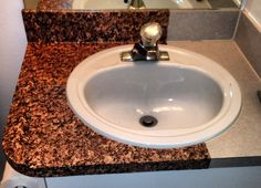 "Bathroom ideas for our home. ""granite"" countertop in 5 easy steps. Granite Countertops, Home Repairs, Home Improvement, Decor, Diy Home Improvement, Countertops, Diy Home Decor, Home Diy, Home Decor"