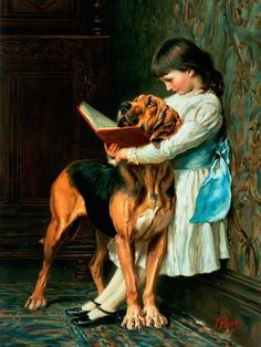 Naughty Boy Or Compulsory Education by Briton Riviere. Girl reading to naughty dog. Reading Art, Girl Reading, Children Reading, Reading Books, Reading Lessons, Young Children, Compulsory Education, Wow Art, Beautiful Paintings