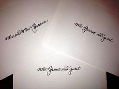 Calligraphy | Inner envelopes in Greta style | Beth Hunt Calligraphy based in Oxford, MS | Shipping nationwide