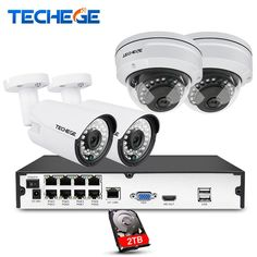 Cheap cctv system, Buy Quality poe nvr kit directly from China nvr kit Suppliers: Techege full POE NVR kit NIght Vision dome camera IP POE Camera Cloud Surveillance kit cctv system Pen Camera, Bullet Camera, Dome Camera, Video Camera, Cctv Security Systems, Protecting Your Home, Surveillance System, Kit