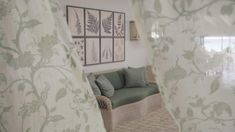 Soane Britain' Rattan Lily Sofa shown in the Entrance Hall at Cobblers Cove Hotel Hand Printed Fabric, Printing On Fabric, Sheer Linen Curtains, Circular Table, Botanical Prints, Furniture Making, All Design, Rattan, Britain