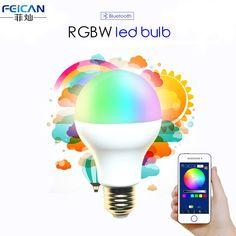 Bluetooth LED Light Bulb Bluetooth 4.0 Smart Lighting Lamp Color Change Dimmable E27 version LED Lamp