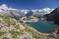 Tour De Mont Blanc, France  The Tour de Mont Blanc trail circles around the Alps' highest peak for a 106-mile journey that traverses France, Switzerland, and Italy.    (Photo: Jacques Pierre/Getty Images)
